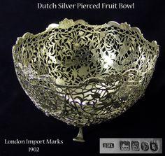 Antique Silver Fruit Bowl by SAMUEL BOYCE LANDECK - Antique Silver - Antiques in London - Silverman London