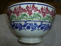 Antique Scottish Spongeware Bowl