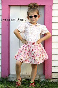 Evie Skirt PDF Sewing Pattern: Sizes 1 to 10