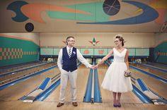 vintage bowling wedding