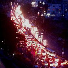 Traffic chaos in hitech city, Hyderabad