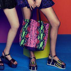 House Of Holland pink zebra print tote bag. www.handbag.com