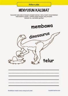 Belajar Membaca Amp Menulis Anak Tk Sd Menyusun Kata Menjadi Kalimat Amp Mewarnai Gambar Orang