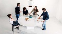 cucina Air con isola rotonda di #Lago. Forma innovativa, design lineare e fascino incredibile. Noi ce ne siamo innamorate subito.