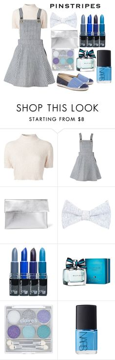 """pinstripes"" by dhita-azzahra ❤ liked on Polyvore featuring Rachel Comey, Marni, Brunello Cucinelli, Tommy Hilfiger and NARS Cosmetics"