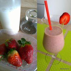Skvělý je i zázvor. Smoothies, Strawberry, Pudding, Fruit, Drinks, Desserts, Food, Smoothie, Drinking