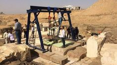 Photograph published by the Egyptian ministry of antiquities showing a burial chamber at the Dahshur royal necropolis, south of Cairo (10 April 2017)