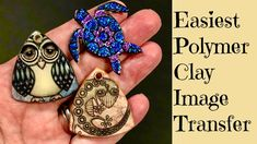 Easy Polymer Clay Image Transfer Tutorial Create An Owl, Gecko Lizard, Turtle Easiest Process Ever! - YouTube
