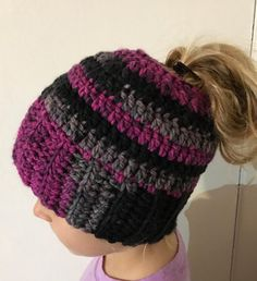 A personal favorite from my Etsy shop https://www.etsy.com/listing/489425940/ponytail-hat-messy-bun-hat-ponytail