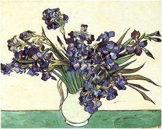 Vincent van Gogh Naturaleza muerta: Vaso con lirios Painting