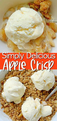 This Simply Delicious Apple Crisp is a tried and true recipe that is perfect for showing off the season's best apples. #applecrisp #applerecipes #applecrisprecipeeasy Quick Dessert Recipes, Fun Baking Recipes, Easy Desserts, Apple Crisp Easy, Apple Crisp Recipes, Easy Thanksgiving Recipes, Fall Recipes, Thanksgiving Celebration, Quick Party Food