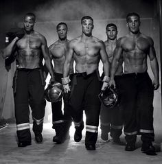 French fashion photographer Fred Goudon released a steamy 2016 charity calendar featuring nearly naked French firefighters. The money raised will be given to the NGO charity Pompiers Sans Frontières, a French organization that provides humanitarian aid.