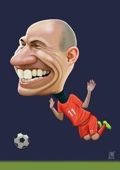 Arjen Robben Cartoon Faces, Cartoon Drawings, Cartoon Art, Cinema Tv, Colorful Backpacks, Celebrity Caricatures, Kids Suits, Twin Brothers, Sports Stars