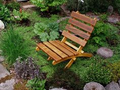 Cedar Chair for Outdoor Comfort - color natural cedar - storable - handcrafted by Laughing Creek