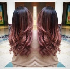 Pink blended with a warm brown.