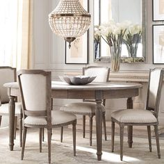Vintage French Dining Chairs Restoration Hardware | New House Ideas ...