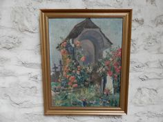 Vintage French Religious Oil Painting. by AngelFrenchAntiques