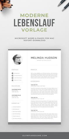 Moderne Lebenslauf Vorlage mit Foto, Anschreiben, Referenzen + Icon Set für Microsoft Word und Pages für Mac - Professioneller Lebenslauf - Professionelle Bewerbungsvorlage - Bewerbungspaket - Lebenslauf Muster - Sofort Download. #lebenslauf #lebenslaufvorlage #bewerbung #bewerbungsvorlage