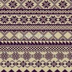 Gestrickte Hintergrund mit Muster in Fair-Isle-Stil — Stockilllustration #20220441