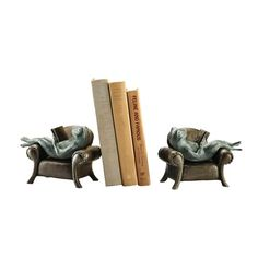Frog on Sofa Bookends
