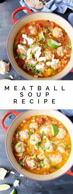 Meatball Soup Recipe | Sopa De Albondigas | Ciorba de Perisoare | CiaoFlorentina.com