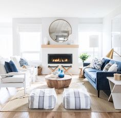 Inspiring White Living Room Design Ideas To Try This Year - A white living room is becoming a trend in most houses today because it exudes utmost cleanliness and neatness. In fact, majority of people who prefer. Living Room Decor Pieces, Living Room Styles, Living Room Colors, Living Room Sets, Living Room Designs, Living Spaces, Living Room White, Living Room Carpet, Room Furniture Design
