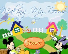 Mickey's Making My Room Game