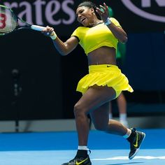 The one and only @serenawilliams #ausopen2016 #waitingforthesemis