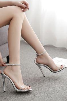 Silver Rhinestone Ankle Strap Clear Stiletto High Heel Sandals @ Fashion High Heels Shoes,Cheap Heels,Sexy Heels,Stiletto Heels,Womens Dress H… – Shoes Platform High Heels, Black High Heels, High Heels Stilettos, Stiletto Heels, Sexy Heels, Party Heels, Cheap Heels, Girls Heels, Outfit Trends