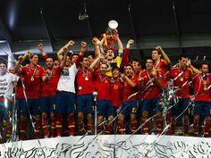 Spain as the Euro 2012 champions! (also won Euro 2008 and World Cup 2010)