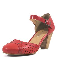 Look at this Chelsea Crew Red Zest Pump on #zulily today!