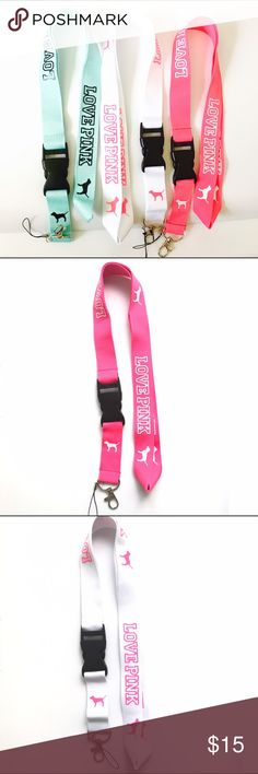 Love pink lanyard 3 pc bundle. 3 for $15 If you would like to buy more, you will receive a bundle discount of 20% on your entire purchase. PINK Victoria's Secret Accessories Key & Card Holders