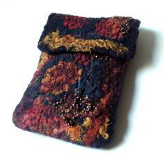 Felt Ipod case cell phone wet felted OOAK gift under by beatassoul, $37.00
