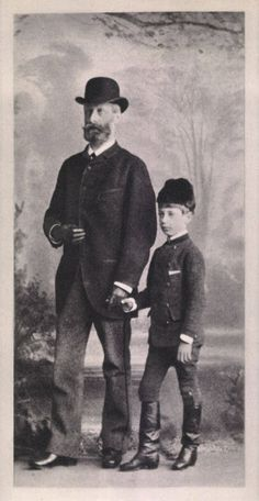 Rainer Maria Rilke and his father Josef Rilke (1839–1906), circa 1884.