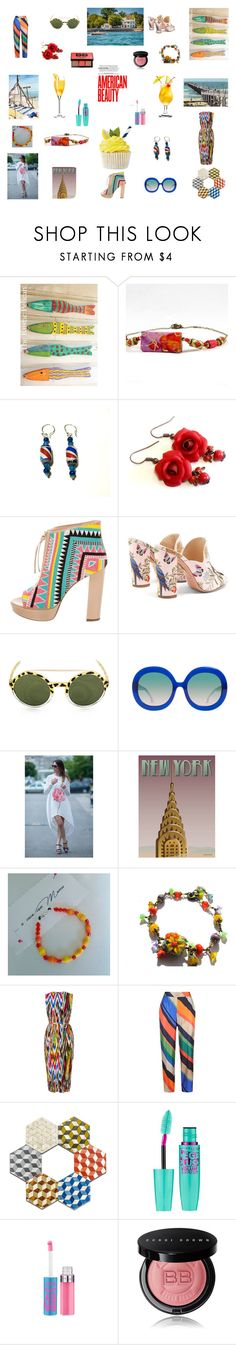 """""""Holiday Vibe State Side"""" by einder on Polyvore featuring Jerome C. Rousseau, Aquazzura, Alice + Olivia, ViSSEVASSE, Warehouse, ESCADA and Bobbi Brown Cosmetics"""
