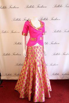 Palkhi Fashion Silk indo-western style lehenga.