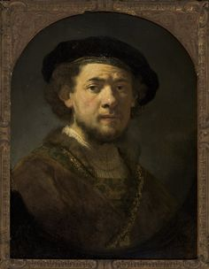 Rembrandt (Workshop, possibly Govaert Flinck) - Self Portrait with Gold Chain or Portrait of a Young Man with Gold Chain. Oil on Wood. Circa 1635. Masp (Museu de Arte de São Paulo Assis Chateaubriand, Brazil).
