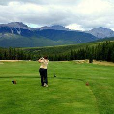 Golfing in Jasper, Ab @ Fairmont Jasper Park Lodge