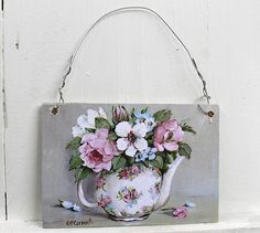 Mini Print - Blooms in a Tea Pot - Postage is included Australia wide