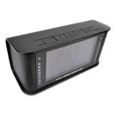 Multimedia Clock Speaker HD Hidden Nanny Cam w/ DVR and Motion Sensor