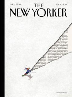 «Winter Break» di Adrian Tomine, 2 febbraio 2009. Qui tutte le copertine del New Yorker di Adrian Tomine.