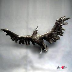 Custom Flying Raven Sculpture