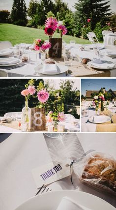 love these wood table numbers!