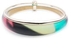 Orbiting Bangle Bracelet with Crystal Accents