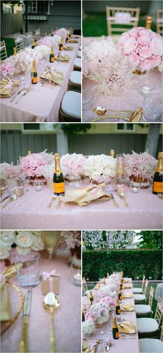"love the mini champagne bottles as favors - perhaps add a ribbon with an attached ""thank you"" note?"