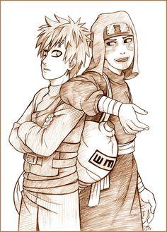 Brothers: Gaara and Kankuro