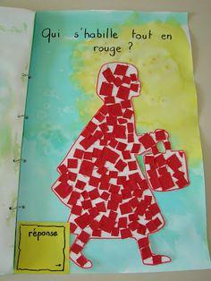 Livre de devinettes sur les contes. la classe de mademoiselle violette