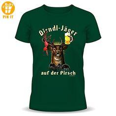 T-Shirt Grössen S-M-L-XL-XXL Dirndl-Jäger auf der Pirsch L - T-Shirts mit Spruch | Lustige und coole T-Shirts | Funny T-Shirts (*Partner-Link)