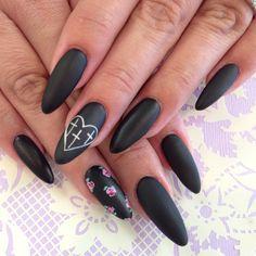 Matte stilettos Nails!  ❤️❤️