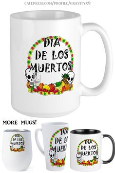 * Dia De Los Muertos Coffee Mug by #Gravityx9 at Cafepress * Available in several sizes and styles of drink ware * This design is available on stickers, tee shirts and more. * Dia De Los Muertos coffee mug * Custom Calavera coffee mugs * custom drink ware * coffee mugs gift ideas * unisex gift ideas * gift ideas coworker * Day of the Dead coffee mugs * gift ideas adults * #FallSeasonsBest #diadelosmuertos #diadelosmuertosmug #diadelosmuertoscoffeemug #dayofthedead #dayofthedeadmug 0920